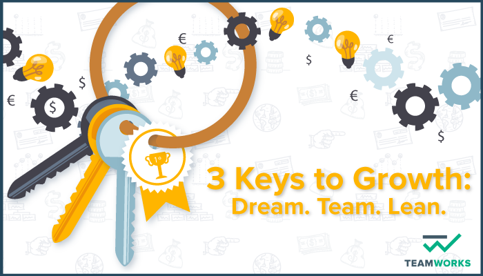 3 Keys to Growth: Dream. Team. Lean